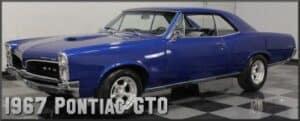 1967 Pontiac GTO restoration